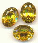 16x12mm Swarovski Light Topaz Oval RS