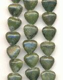 10mm African Jade Heart Beads