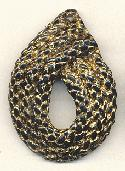50x35 Black/Gold Braided Plastic Finding