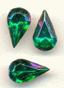 10x6mm Emerald AB Pear