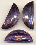 30x13mm Purple Halfmoon