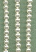 4mm White Glass Pearls