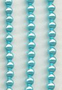 4mm Aqua Glass Pearl Beads