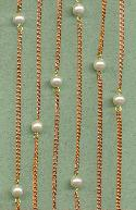 Copper Coated Steel & Pearl Cable Chain