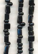 20'' Strand Black Glass Beads