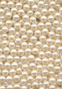 3mm NO HOLE Off-White Acrylic Pearls