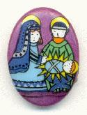 18x13mm Limoge Nativity Stone