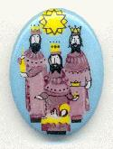 18x13mm Limoge Three Wise Men Stone