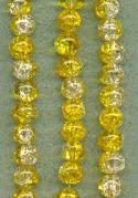 6mm Clear/Yellow Crackle Beads