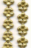 14mm Floral Brass Chain