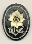 40x30mm Black/White Flower Stone (3)