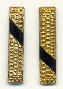 36x7.5mm Black and Gold Flat Back