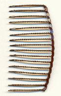 2 1/4'' by 1 1/8'' Brown Wire Combs