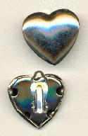 23x24mm Silver Heart Shaped Ear Clips