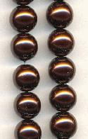 8mm Chocolate Glass Pearls