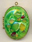 43mm by 36mm Peridot Gold Plated Locket