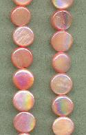 8mm Salmon MOP Coin Beads