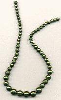 15'' Forest Green Graduated Glass Pearls