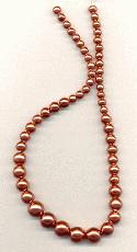 15'' Copper Graduated Glass Pearls