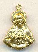 25x18mm Hollow Brass Christ Charms