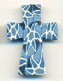 29x22mm Blue/White Fimo Crosses