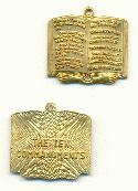 27x28mm Ten Commandment Pendants