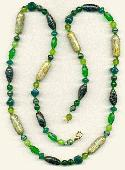30'' Shades Of Green Necklace