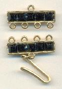 21x10mm Four Strand Connectors w/stones