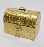 25/33mm Reptile Textured Brass Pill Box