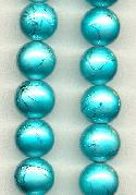 10mm Aqua Glass Beads
