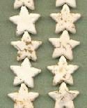 20mm Off-White Magnesite Star Bead