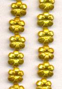 10mm Goldenrod Pearl Plastic Flower Bead