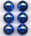 20mm Acrylic Blue Disco Ball Beads
