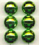 20mm Acrylic Lime Disco Ball Beads