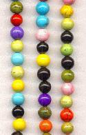 6mm Round Dyed Howlite Beads
