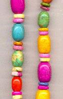 18-19'' Strand of Mixed Howlite Beads