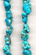 15.5'' Turquoise Howlite Nugget Beads