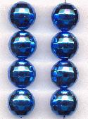 16mm Acrylic Blue Disco Ball Beads