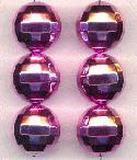 20mm Acrylic Pink Disco Ball Beads