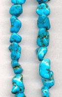 15''-16'' Turquoise Magnesite Nugget Beads