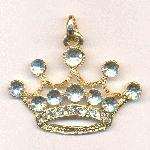 45x58mm GP Crown Pendant w/ RS