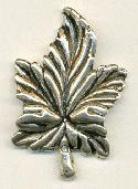44x30mm Silver Metalized Leaf Bead