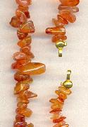 Orange/Red Natural Stone Nuggets