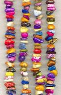 15-16'' Magnesite Mixed Color Chip Beads