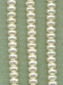 8x5mm Acrylic Pearl Rondelles