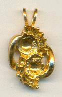 21x11mm Gold Plated Pendant