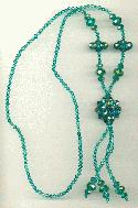 31 1/2'' Emerald AB Faceted Necklace