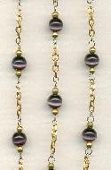 6mm Purple Cats Eye Chain