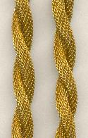 9mm Twisted Brass Mesh Chain