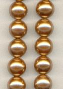 14'' 14mm Tan Plastic Pearls